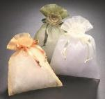 Sheer Pouches with Rose Closure **CLOSEOUT**