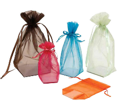 Organza Pouches with Square Gusset-Cardboard Bottom