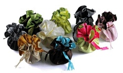 Reversible Double Face Satin Round Bags