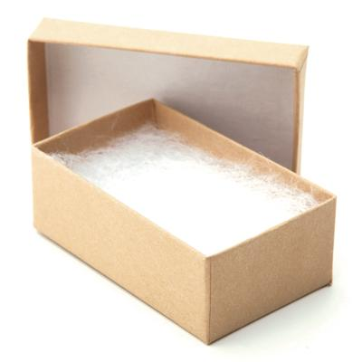 Natural Kraft Jewelry Box with Cotton Small Earrings 212 x 11