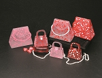 Frosted Heart Purse Bags