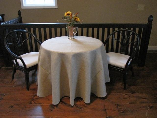 Natural burlap tablecloth 60 diameter for 60 burlap