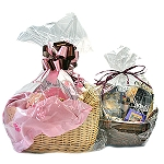 Clear Cellophane Basket Bags