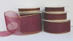 $2.25 & Up Organza Ribbon with Gold or Silver Edge