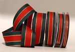 Traditional Christmas Stripe Ribbon