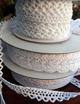 White Cotton Crochet Ribbon