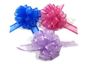 Organza with Satin Edge Pull Bows