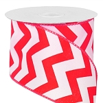 Wired Chevron Satin Ribbon