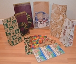 **CLOSEOUT** Printed Paper Gift Sacks
