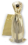 Metallic Sheer Wine Bags
