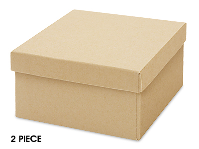 Kraft Jewelry Box with Cotton WatchBracelet 35 x 35 x 2 12