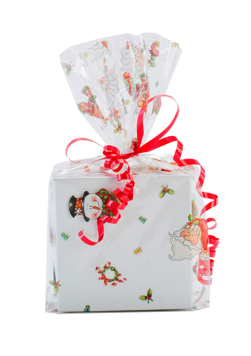 Ho holiday cellophane printed bags