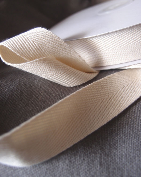 Cream Colored Cotton Ribbon