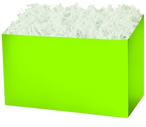 "Lime Gift Basket Boxes (Large, 10.25"" x 6"" x 7.5"")"