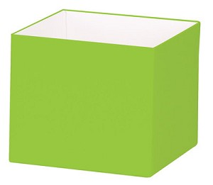 "Lime Deluxe Gift Box, Small (4"" x 4"" x 3.5""), 25 Boxes with Solid Lids"