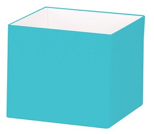 "Turquoise Deluxe Gift Box, Small (4"" x 4"" x 3.5""), 25 Boxes with Solid Lids"