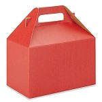 Really Red with Shadow Stripe Gable Box - Large (9