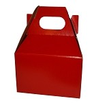 Red Glossy Gable Box - Small (4