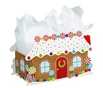 Gingerbread House Intricut Basket Box (Large, 12