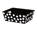 Black/White Polka Dots Market Tray, Small (9