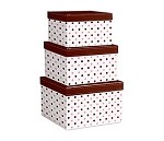 Chocolate Dots Nested Boxes