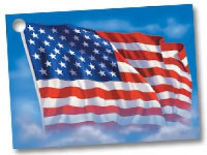 american flag gift card 3 3 4 x 2 3 4 12 cards pack