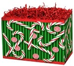 Candy Cane Basket Boxes (Large, 10.25