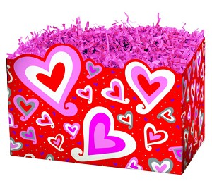 "Chain of Hearts Basket Boxes (Small, 7"" x 4"" x 5"")"