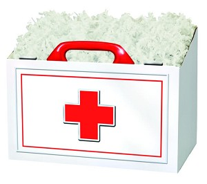 "First Aid Basket Boxes (Small, 7"" x 4"" x 5"")"