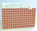 Red Gingham Basket Boxes (Small, 7