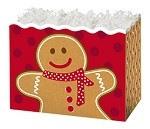 Gingerbread Man Basket Boxes (Large, 10.25