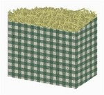 Green Gingham Basket Boxes (Large, 10.25