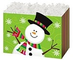 Holiday Snowman Basket Boxes (Large, 10.25