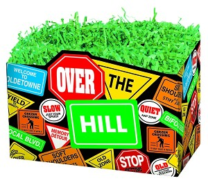 "Over the Hill Signs Basket Boxes (Large, 10.25"" x 6"" x 7.5"")"