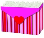 Stripes and Hearts Basket Boxes (Large, 10.25