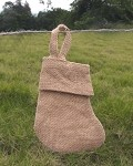 Natural Burlap Jute Christmas Stocking (6