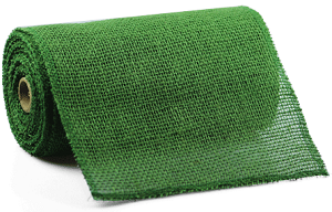 "Green Burlap Jute Ribbon with a Finished Edge, 9"" x 10 yards (30 feet)"