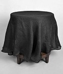 Black Burlap Tablecloth - 60