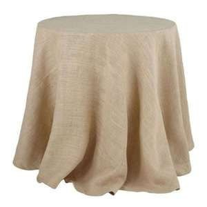 "Natural  Burlap Tablecloth - 60"" Diameter"