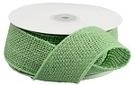 Green Burlap Wired Ribbon, 2