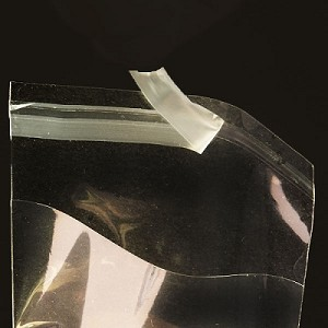 "7.25"" x 12"" Clear Lip-N-Tape Bags"