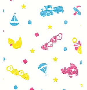 Baby Toys Cellophane Printed Bags, 100 bags