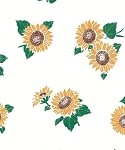 Sunflowers Printed Cellophane Roll, 100' L