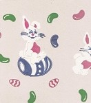 Easter Bunny Printed Cellophane Basket Bags (15