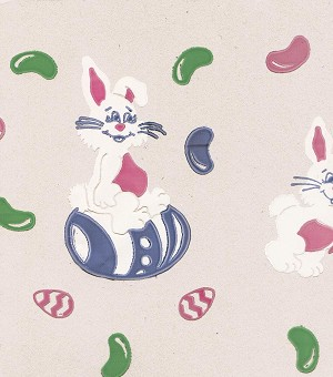 "Easter Bunny Printed Cellophane Basket Bags (24"" x 30""), 50 piece pack"