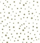 Stars - Gold Printed Cellophane Roll, 100' L