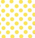 Large Dots-Yellow Printed Cellophane Roll, 40 inch x 100' L