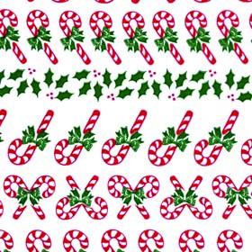 Candy Canes Cellophane Printed Bags, 100 bags