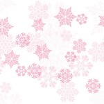 Pink Let it Snow Cellophane Printed Bags,  (3.5 inch x 2 inch x 7.5 inch), 100 bags