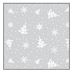 Winter Flurry Printed Cellophane Roll, 100' L